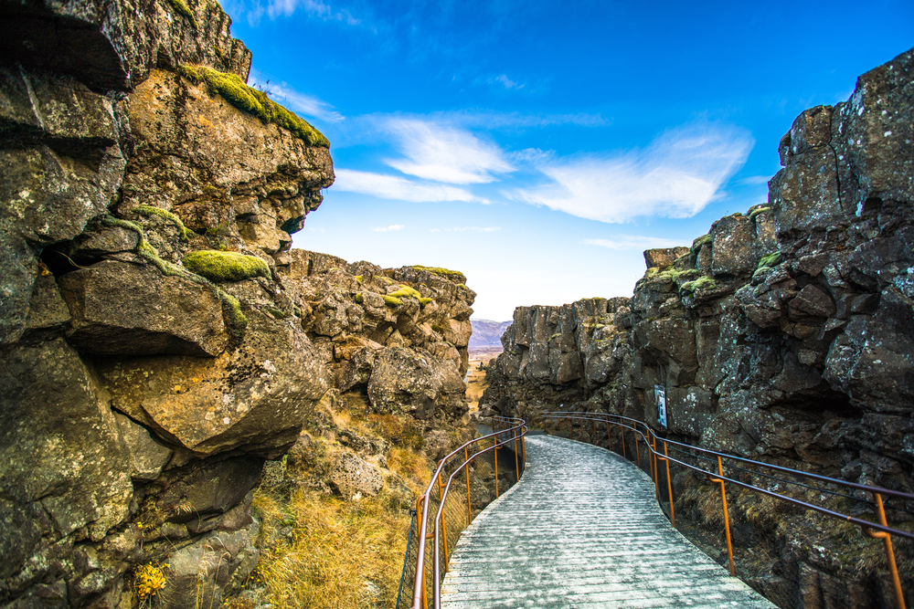 Placas tectónicas en Parque Nacional Pingvellir