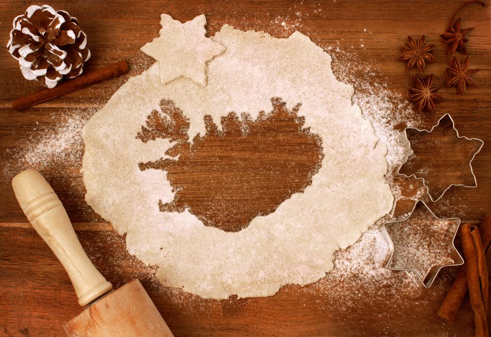 Mapa de Islandia sobre harina de trigo en relación a la repostería Islandesa