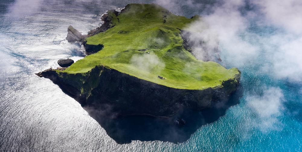 Isla Heimaey, una de las más recientes islas de Islandia