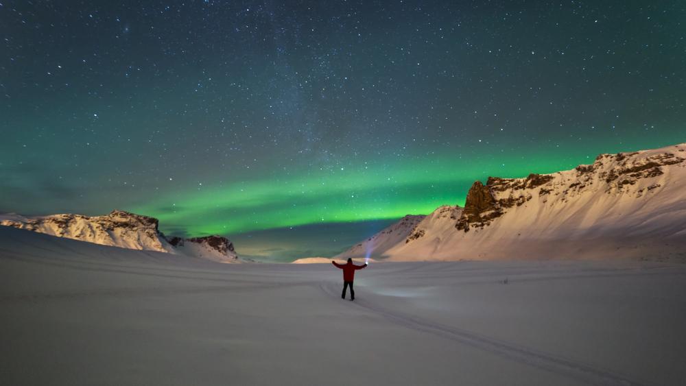 Las auroras boreales en Islandia se suelen ver en los meses más oscuros