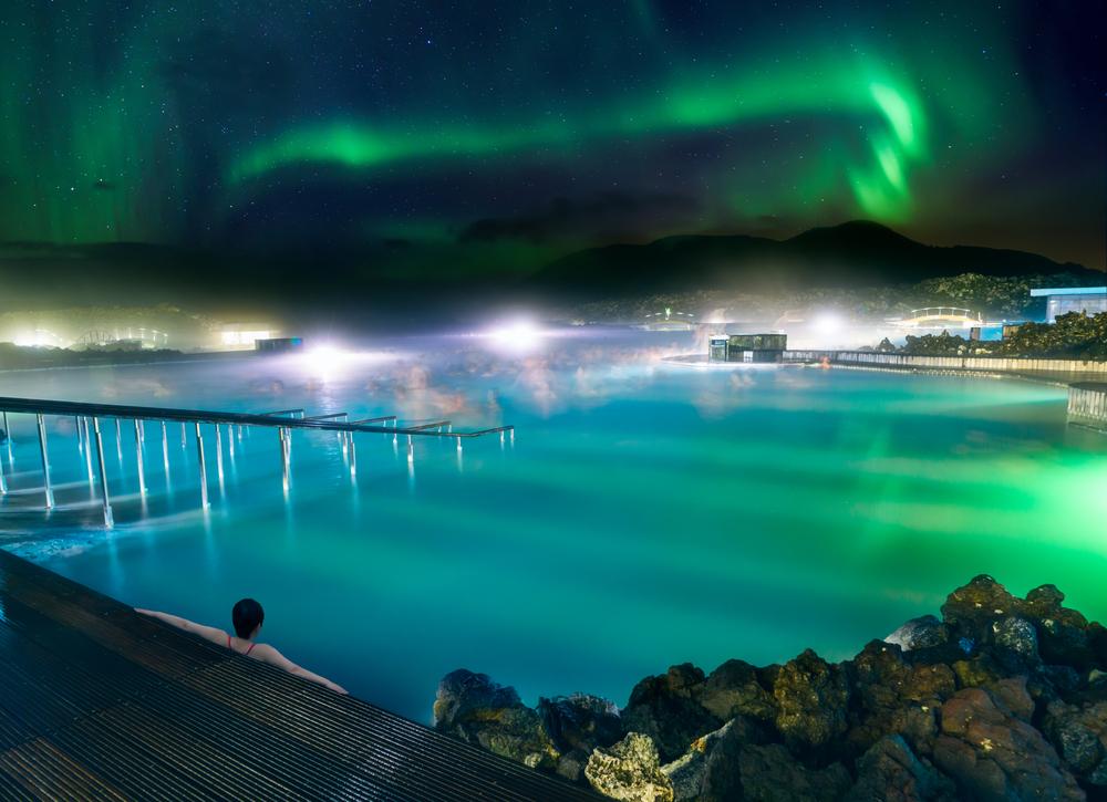 Auroras Boreales vistas desde el Blue Lagoon