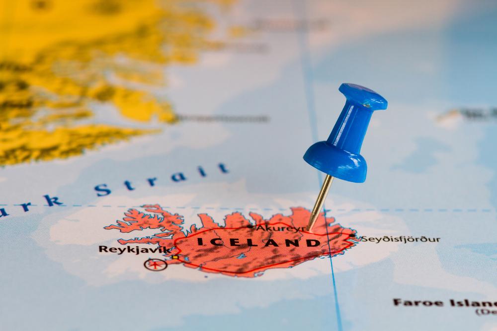 Islandia en el mapa como información básica para principiantes