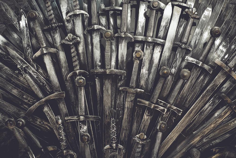 Famoso trono de hierro de Juego de Tronos