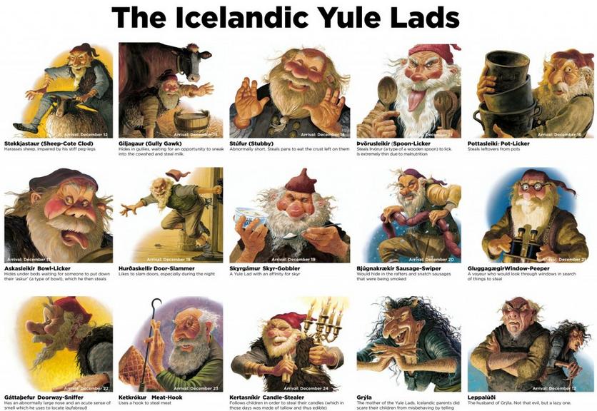 Los Ogros de navidad son parte esencial de la mitologia islandesa