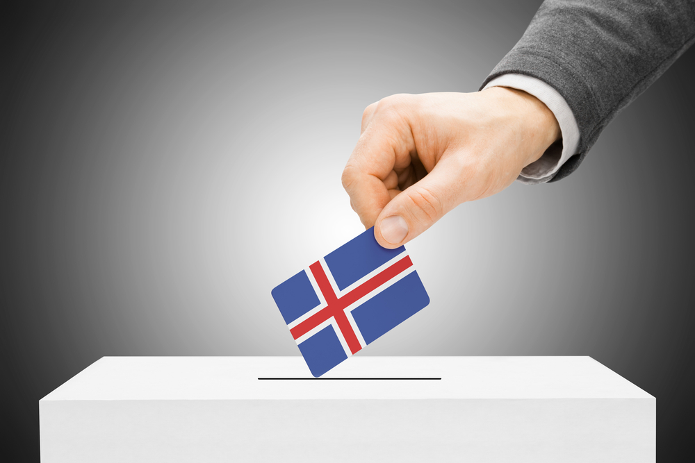 Caja de votaciones en Islandia