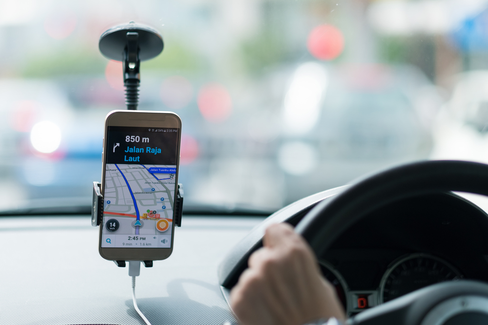 Aplicación de Uber, compañía que aun no opera en Islandia