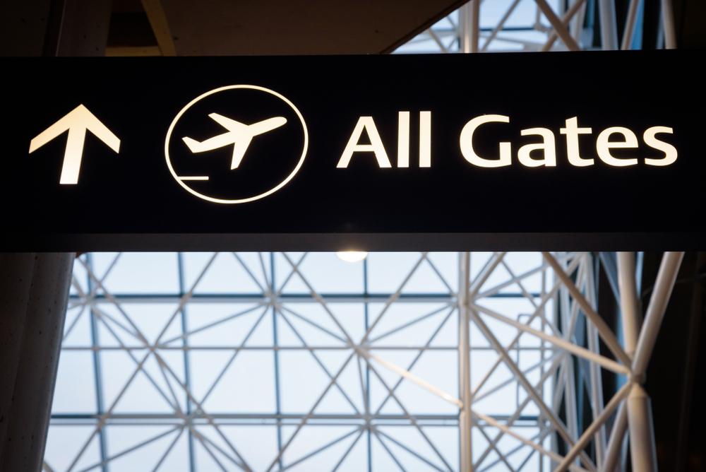Puertas de embarque aeropuerto