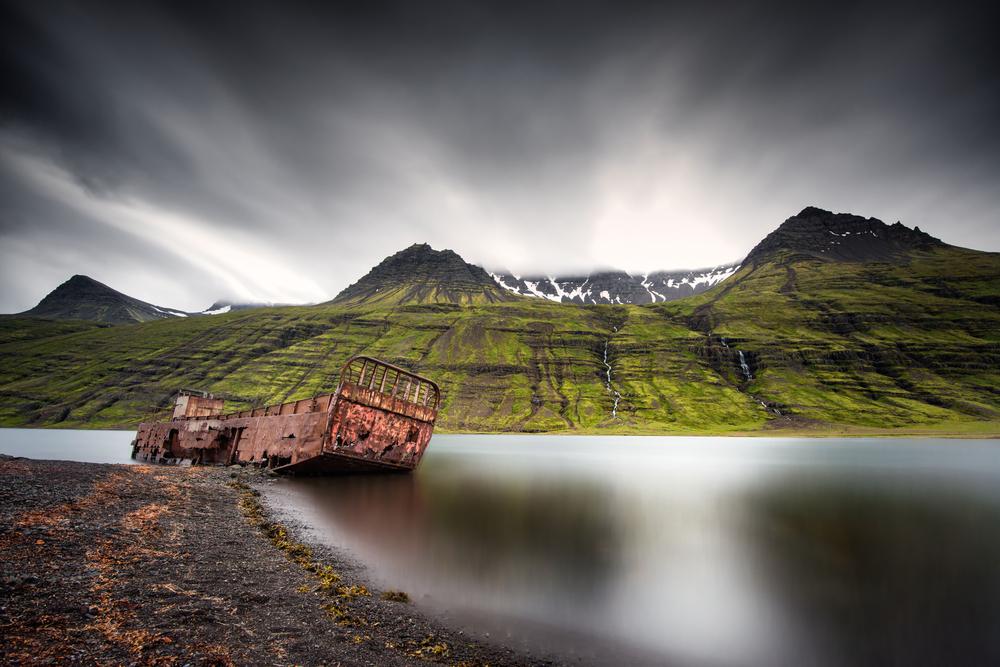 Vistas del fiordo de Mjoifjordur
