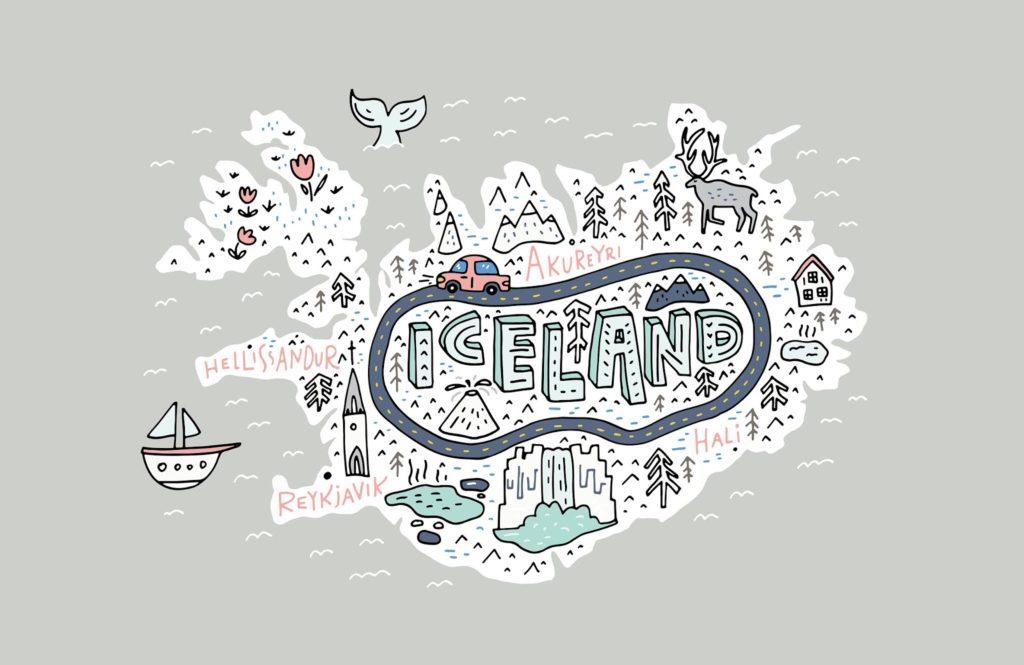 Mapa de Islandia con rutas, actividades y perlas ocultas