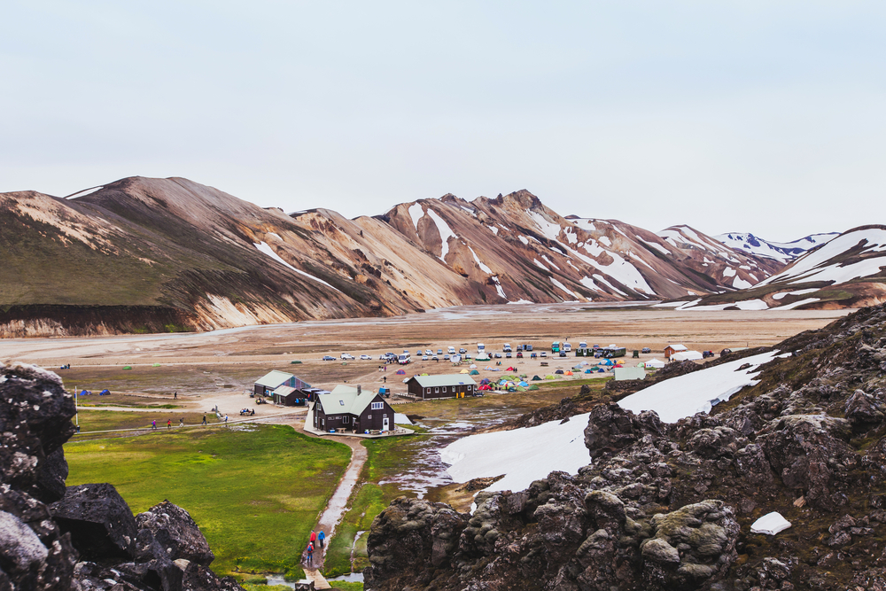 Camping en Islandia en la zona de las tierras altas