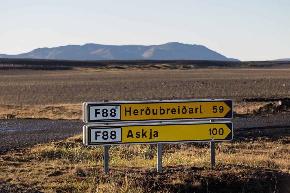 Señales de Carreteras F en Islandia