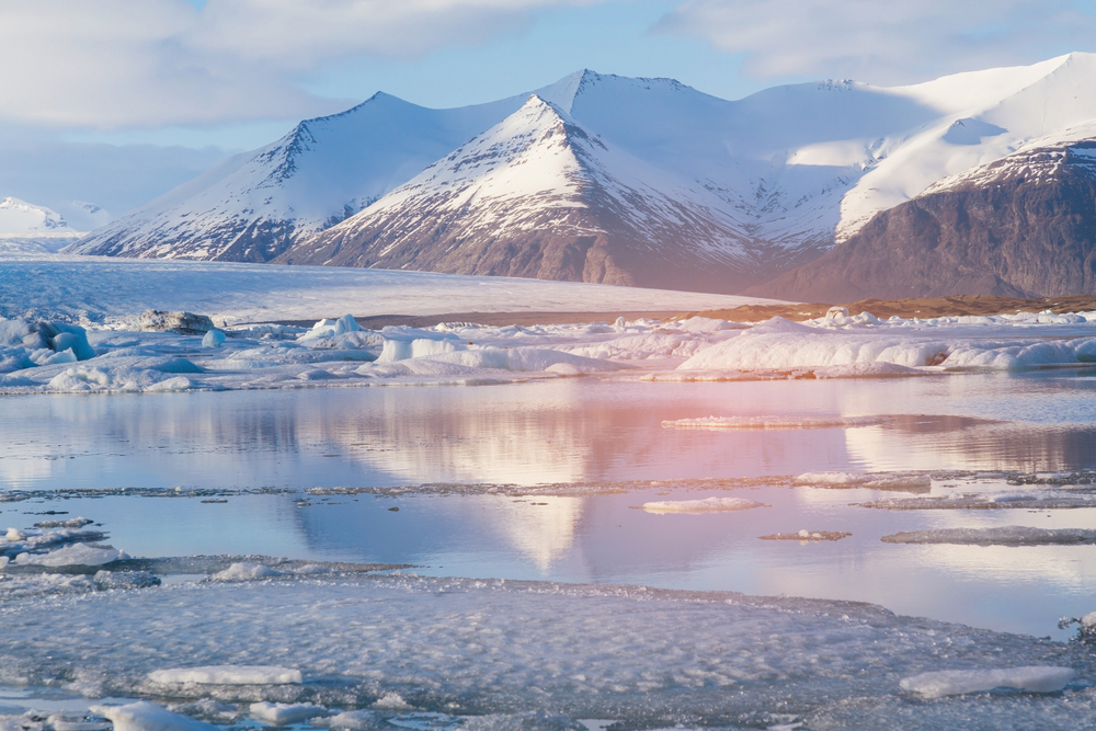 Paisajes islandeses en invierno
