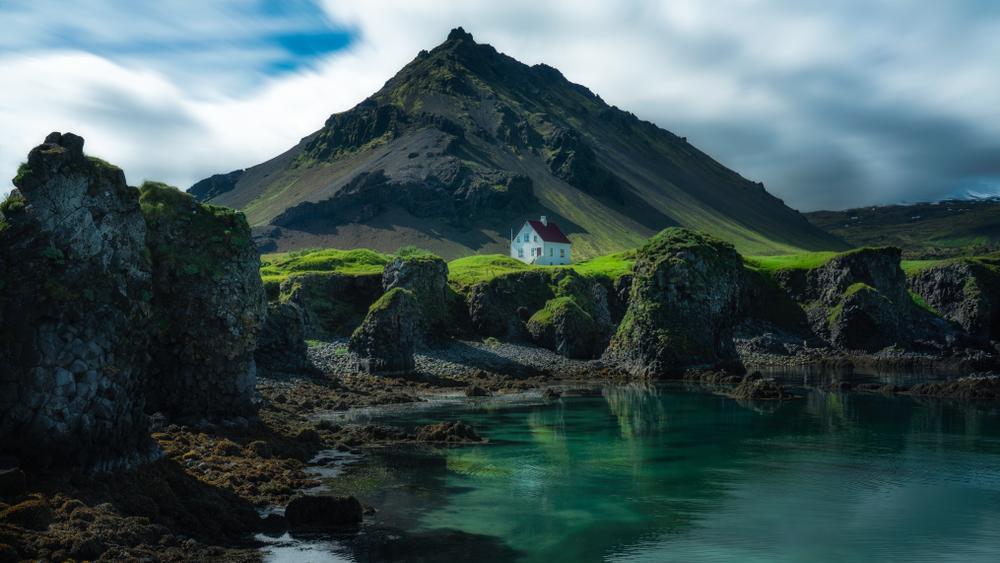 vista de Arnarstapi en la Península de Snaefellsness