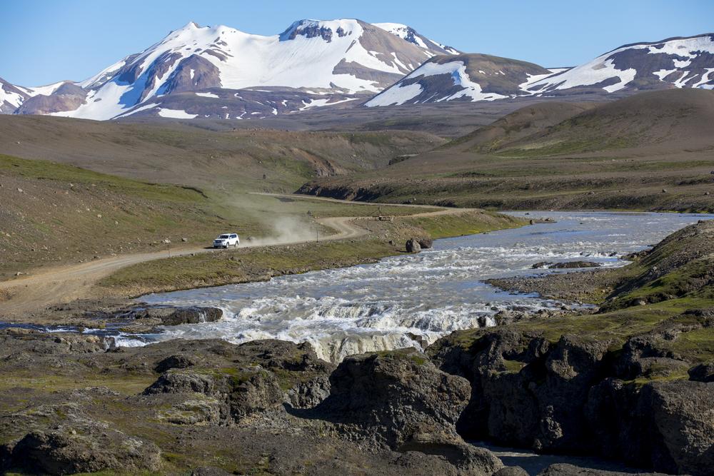 Una de las carreteras más chulas para conducir en Islandia en las tierras altas
