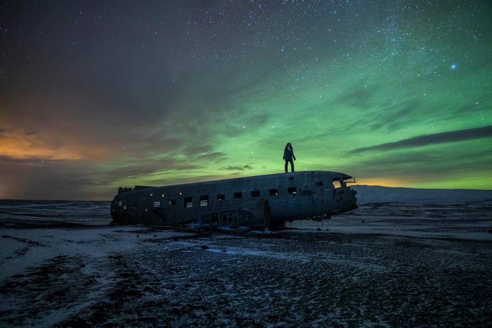 Avión estrellado DC3 en Islandia - Viajando por el sur de Islandia