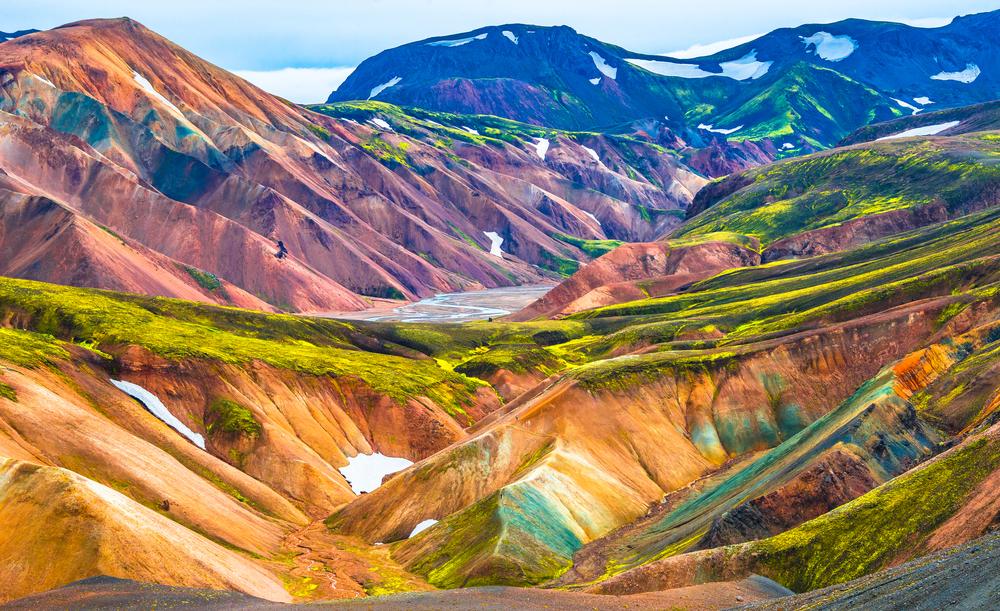 montañas típicas de la zona, ideales para hacer senderismo en Landmannalaugar