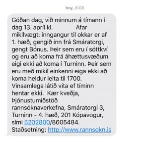 mensaje coronavirus islandia