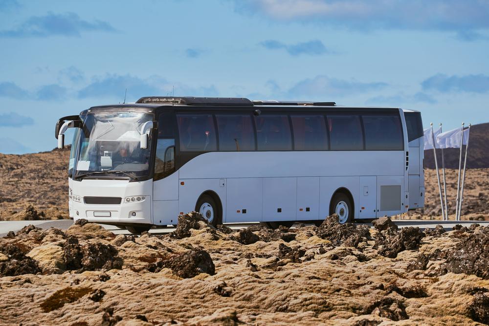 bus islandés en ruta
